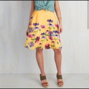 MODCLOTH Profound Pizzazz Floral Skirt Size 1X
